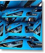 Blue Girder Metal Print