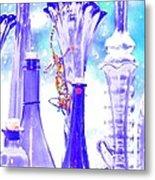 Blue Glass And Gecko Metal Print