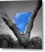 Blue Glass Art Metal Print