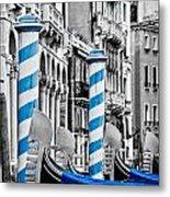 Blue Gondolas Metal Print
