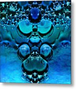 Blue Green Aura Metal Print