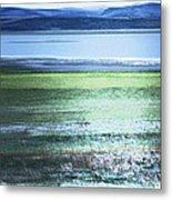 Blue Green Landscape Metal Print