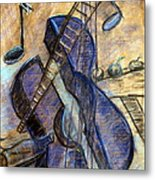 Blue Guitar - About Pablo Picasso Metal Print