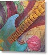 Blue Guitar Metal Print