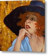 Blue Hat Metal Print