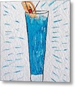 Blue Hawaiian Cocktail Metal Print