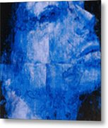 Blue Head Metal Print