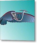 Blue Heron Flight Metal Print