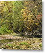 Blue Hole Streambed Metal Print