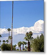 Blue Horizon Palm Springs Metal Print