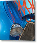 Blue Hot Rod Metal Print