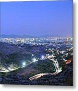 Blue Hour Ajmer City Panorama Metal Print