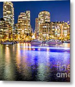 Blue Hour In Vancouver Metal Print