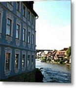 Blue House - Bamberg Metal Print