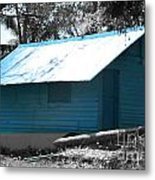 Blue House  Metal Print by Bobby Mandal