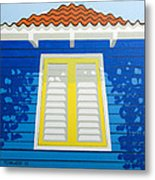 Blue House Metal Print