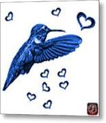 Blue Hummingbird - 2055 F S M Metal Print