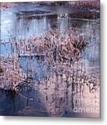 Blue Ice And Reflections Metal Print