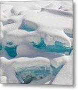 Blue Ice Of Madeline Island Metal Print