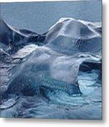 Blue Ice Sculpture Metal Print