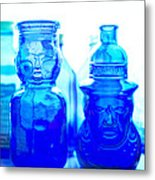 Blue In The Face Metal Print