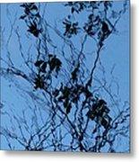 Blue Ink Metal Print