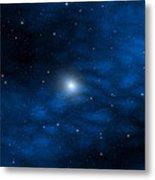 Blue Interstellar Gas Metal Print