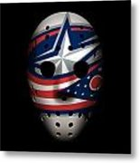 Blue Jackets Goalie Mask Metal Print