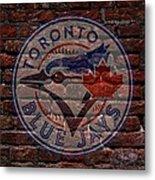Blue Jays Baseball Graffiti On Brick  Metal Print by Movie Poster Prints