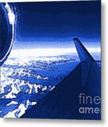 Blue Jet Pop Art Plane Metal Print