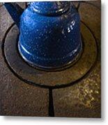 Blue Kettle Metal Print