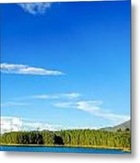 Blue Lake And Green Hills Metal Print
