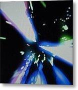 Blue Laser Metal Print