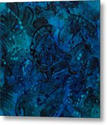 Blue Lava Flow Metal Print