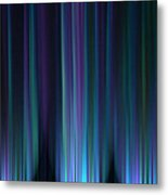 Blue Lights Metal Print
