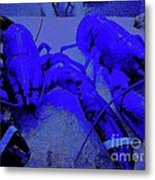 Blue Lobsters 21 Metal Print