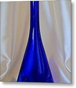 Blue Long-necked Bottle Metal Print