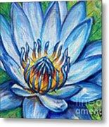 Blue Lotus Metal Print