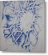 Blue Man Metal Print by Moshfegh Rakhsha