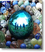 Magic Blue Marble Metal Print