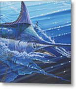 Blue Marlin Strike Off0053 Metal Print