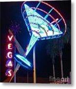 Blue Martini Glass Las Vegas Metal Print