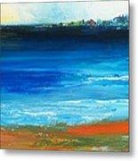 Blue Mist Over Nantucket Island Metal Print