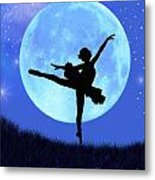Blue Moon Ballerina Metal Print