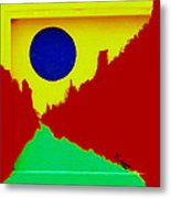 Blue Moon From Somewhere Else Metal Print