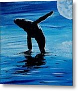 Blue Moon I - Left Side - Acrylic Metal Print