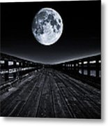 Blue Moon Metal Print