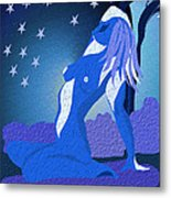 Blue Moon Rising Metal Print