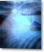 Blue Moon Sailing Metal Print