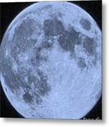 Blue Moon Up Close And Personal Metal Print